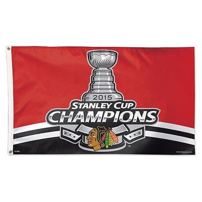 Chicago Blackhawks 2015 Stanley Cup Champions Deluxe 3'x5' Flag