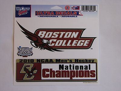 "Boston College Eagles 2010 Hockey National Champions 5""x6"" Decal"