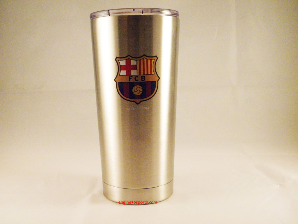 FC Barcelona 20oz Silver Ultra Travel Tumbler