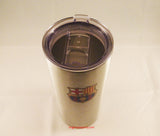 FC Barcelona 20oz Silver Ultra Travel Tumbler 2
