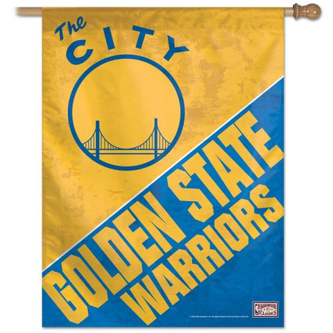 "Golden State Warriors 27""x37"" Banner - Hardwood Classics"