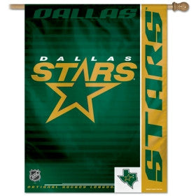 "Dallas Stars (Old Logo) 27""x37"" Banner"