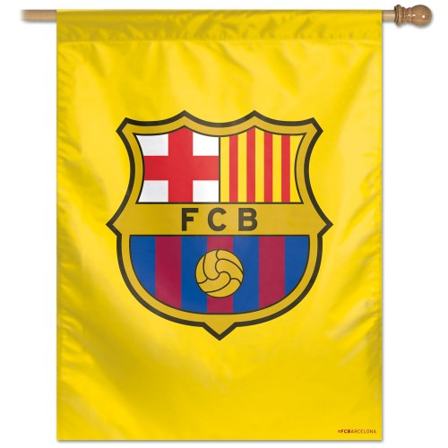 "FC Barcelona 27""x37"" Banner - Yellow Background"