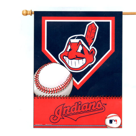 "Cleveland Indians Chief Wahoo Logo 27""x37"" Banner"
