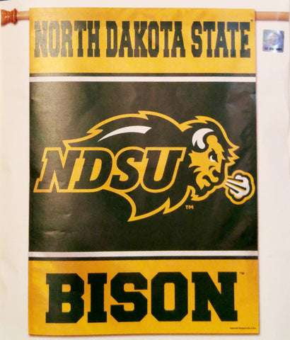 "North Dakota State Bison 28"" x 40"" Vertical Flag"