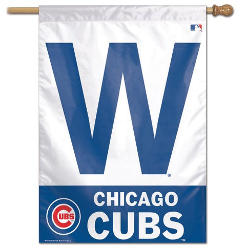 "Chicago Cubs 28"" x 40"" Vertical Flag - W Logo"