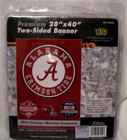 "Alabama Crimson Tide 2011 National Championship 28""x40"" Two-Sided Banner"