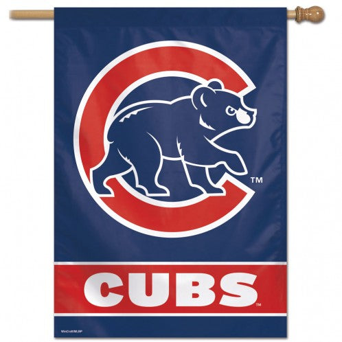 "Chicago Cubs 28"" x 40"" Vertical Flag"
