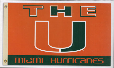 Miami Hurricanes 3'x5' Flag - The U