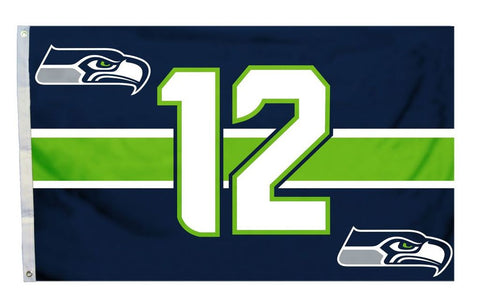 Seattle Seahawks 3'x5' Flag - 12th Man Design