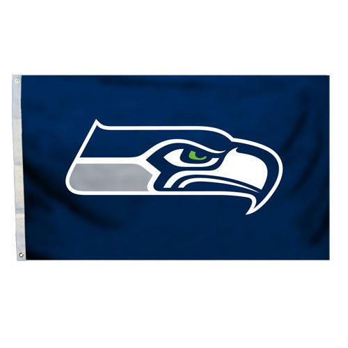 Seattle Seahawks 3'x5' Flag - Logo Design
