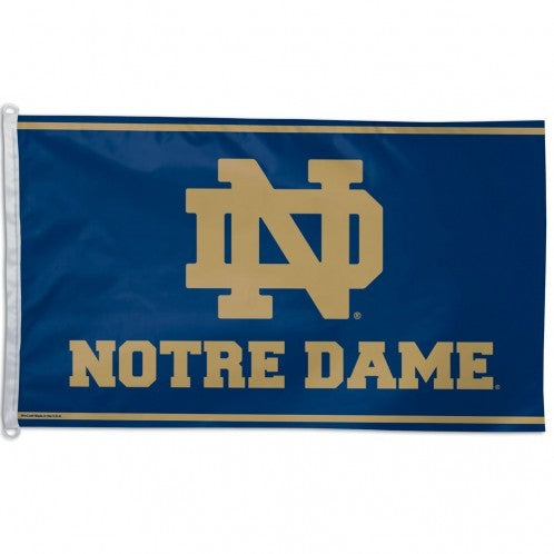 Notre Dame Fighting Irish 3'x5' Flag - Blue with Gold Lettering