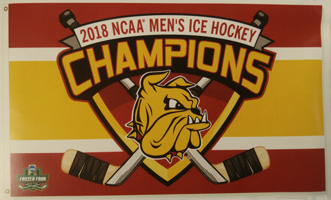 Minnesota Duluth Bulldogs 2018 National Champions Deluxe 3'x5' Flag