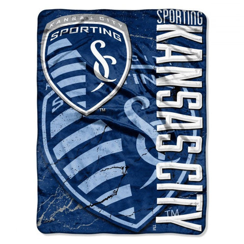 "Sporting Kansas City 46"" x 60"" Micro Raschel Throw Blanket - Concrete Design"