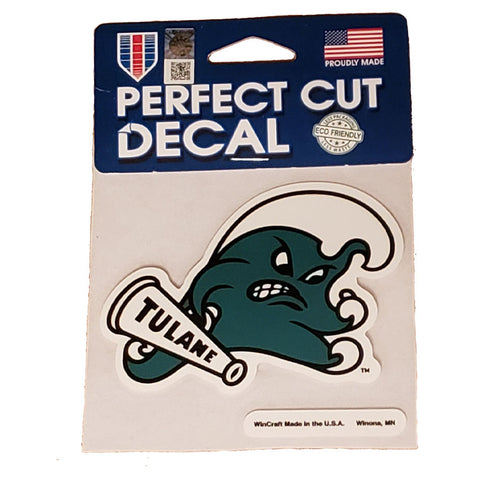 Tulane Green Wave Small Decal