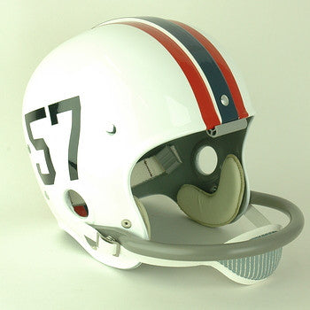 SMU Mustangs 1957-1961 White Version Vintage Full Size Helmet