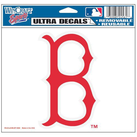 "Boston Red Sox 5""x6"" Decal - B Logo"