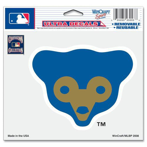 "Chicago Cubs 5""x6"" Decal - Cooperstown Collection"