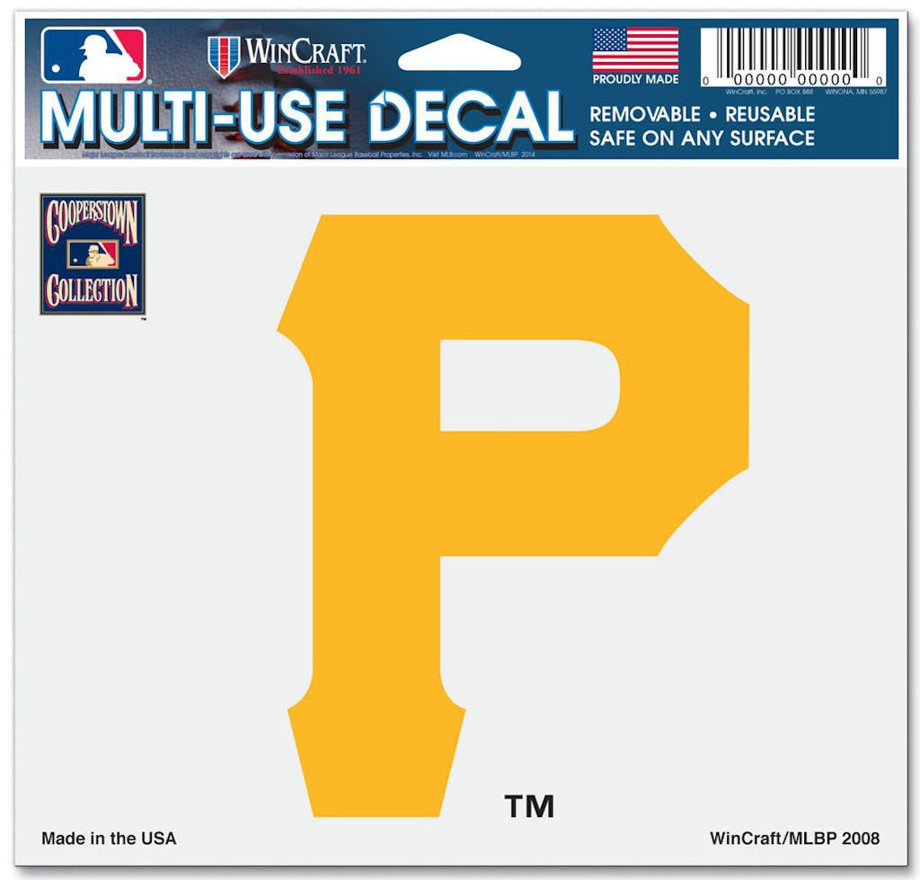"Pittsburgh Pirates 5""x6"" Decal - Cooperstown Collection"