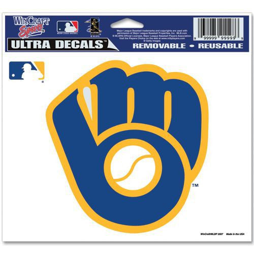 "Milwaukee Brewers 5""x6"" Decal - Retro Logo"
