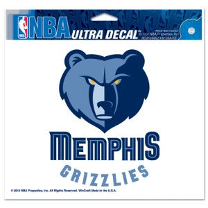 "Memphis Grizzlies 5""x6"" Decal"
