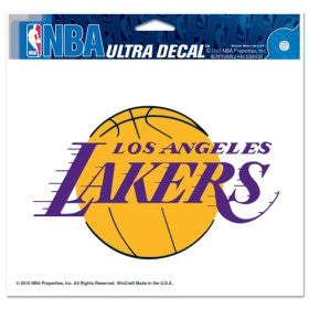 "Los Angeles Lakers 5""x6"" Decal"