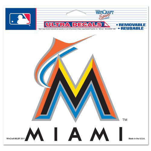 "Miami Marlins 5""x6"" Decal"