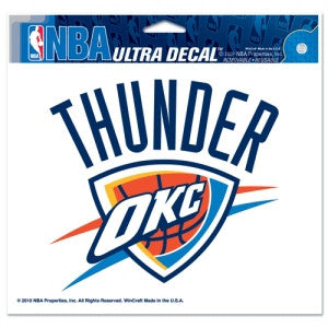 "Oklahoma City Thunder 5""x6"" Decal"