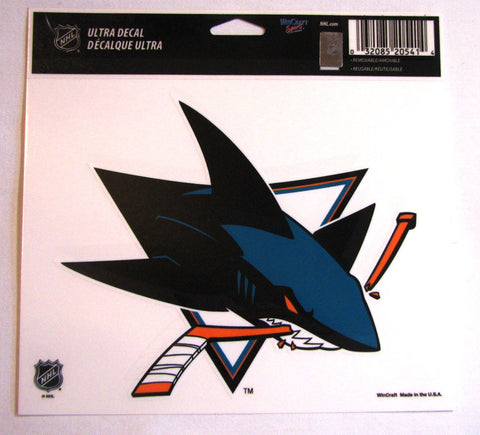 "San Jose Sharks 5""x6"" Decal"