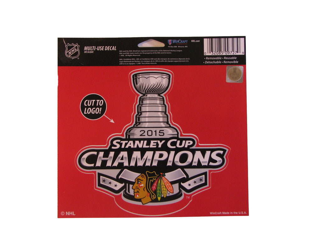 "Chicago Blackhawks 2015 Stanley Cup Champions 5""x6"" Decal"