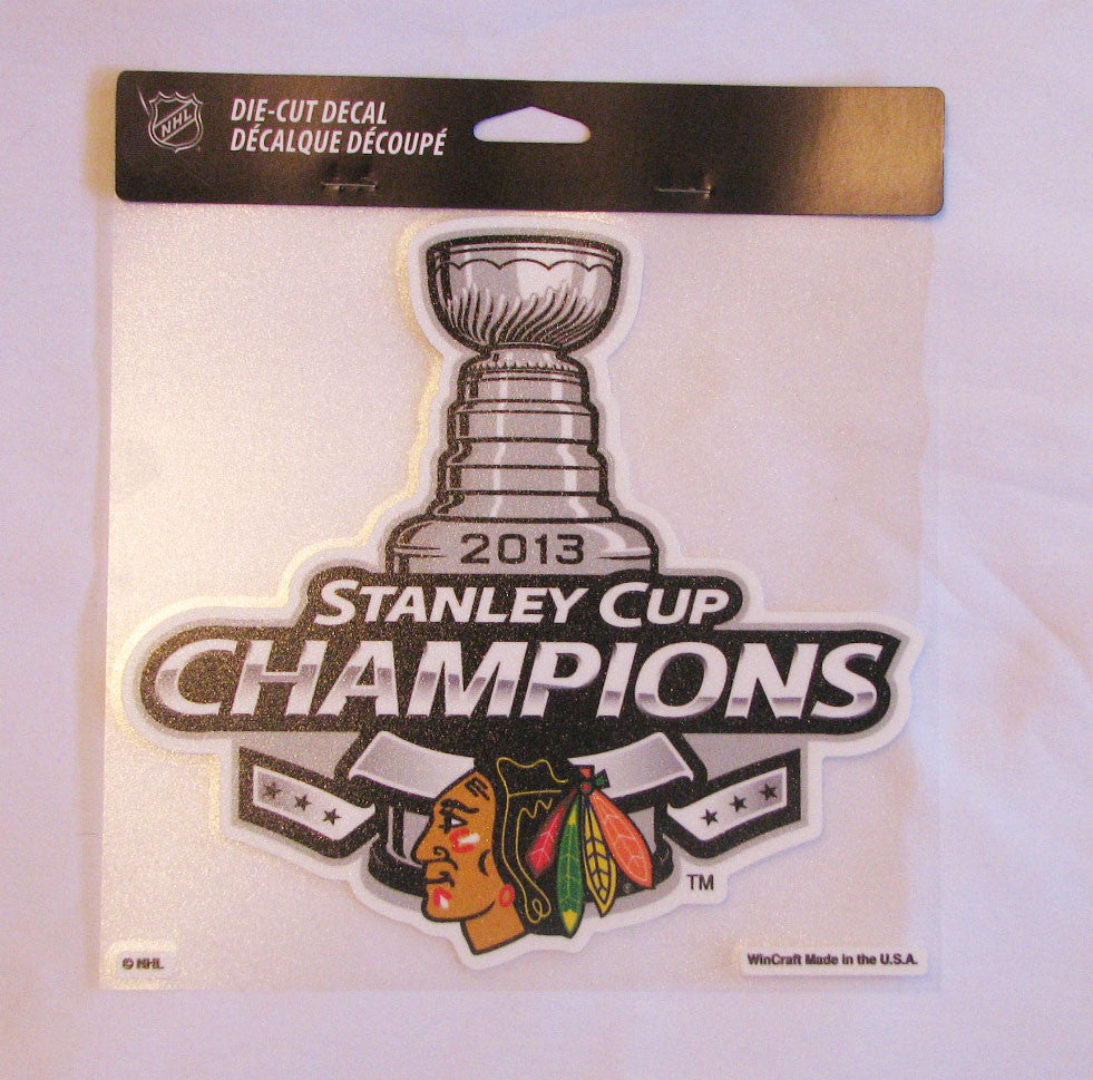 "Chicago Blackhawks 2013 Stanley Cup Champions 8""x8"" Color Decal"