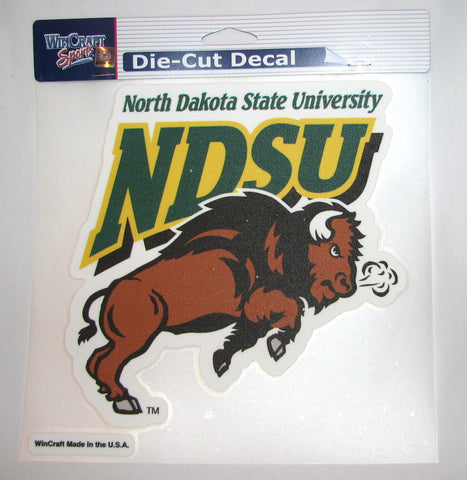 "North Dakota State Bison 8""x8"" Color Decal"