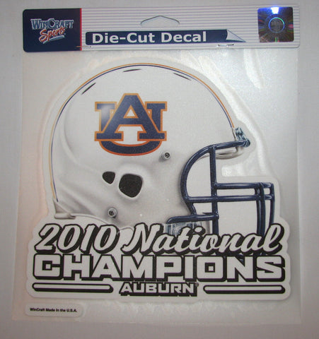 "Auburn Tigers 2010 National Champions 8""x8"" Color Decal"
