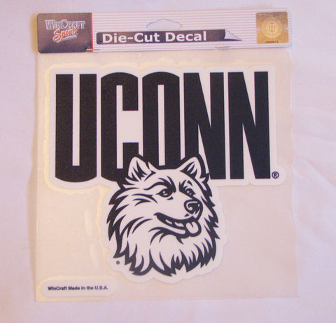 "UConn Huskies 8""x8"" Color Decal"