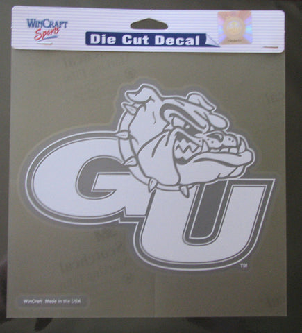 "Gonzaga Bulldogs 8""x8"" White Decal"