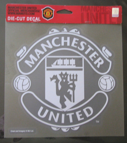 "Manchester United Red Devils 8""x8"" White Decal"