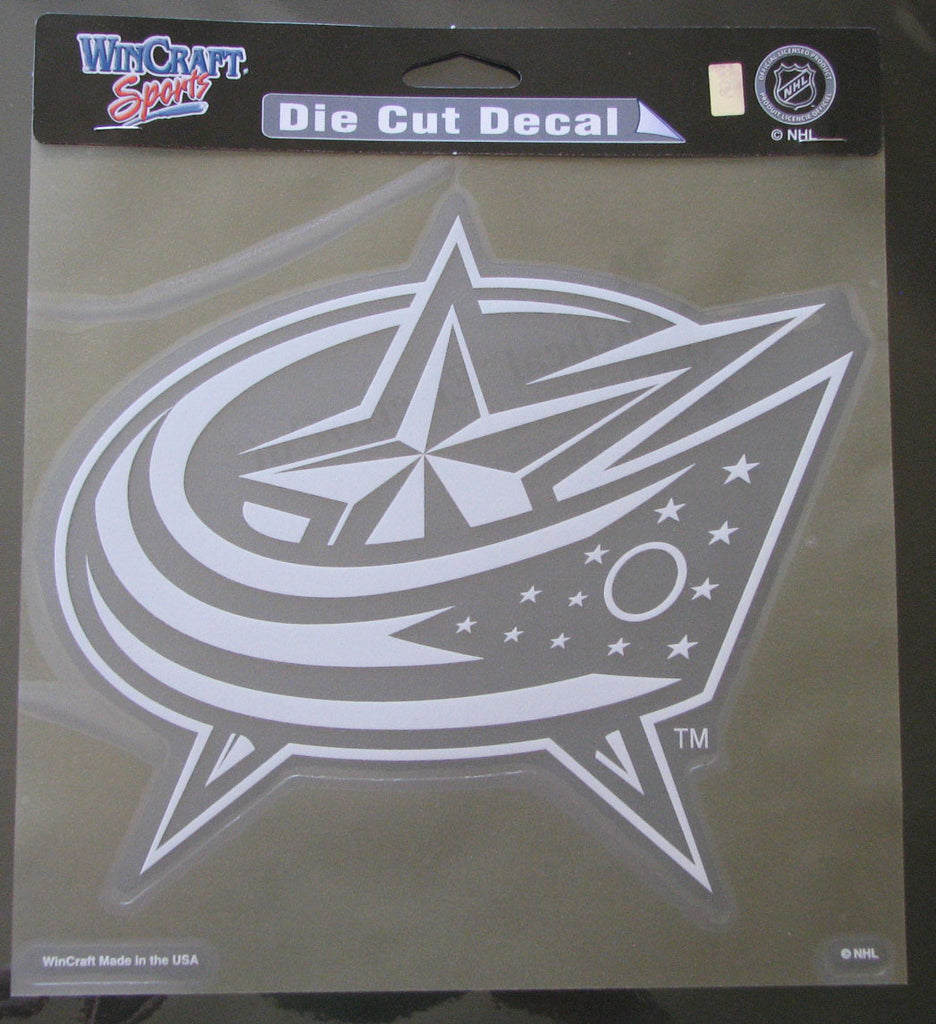 "Columbus Blue Jackets 8""x8"" White Decal"