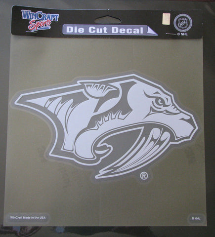 "Nashville Predators 8""x8"" White Decal"