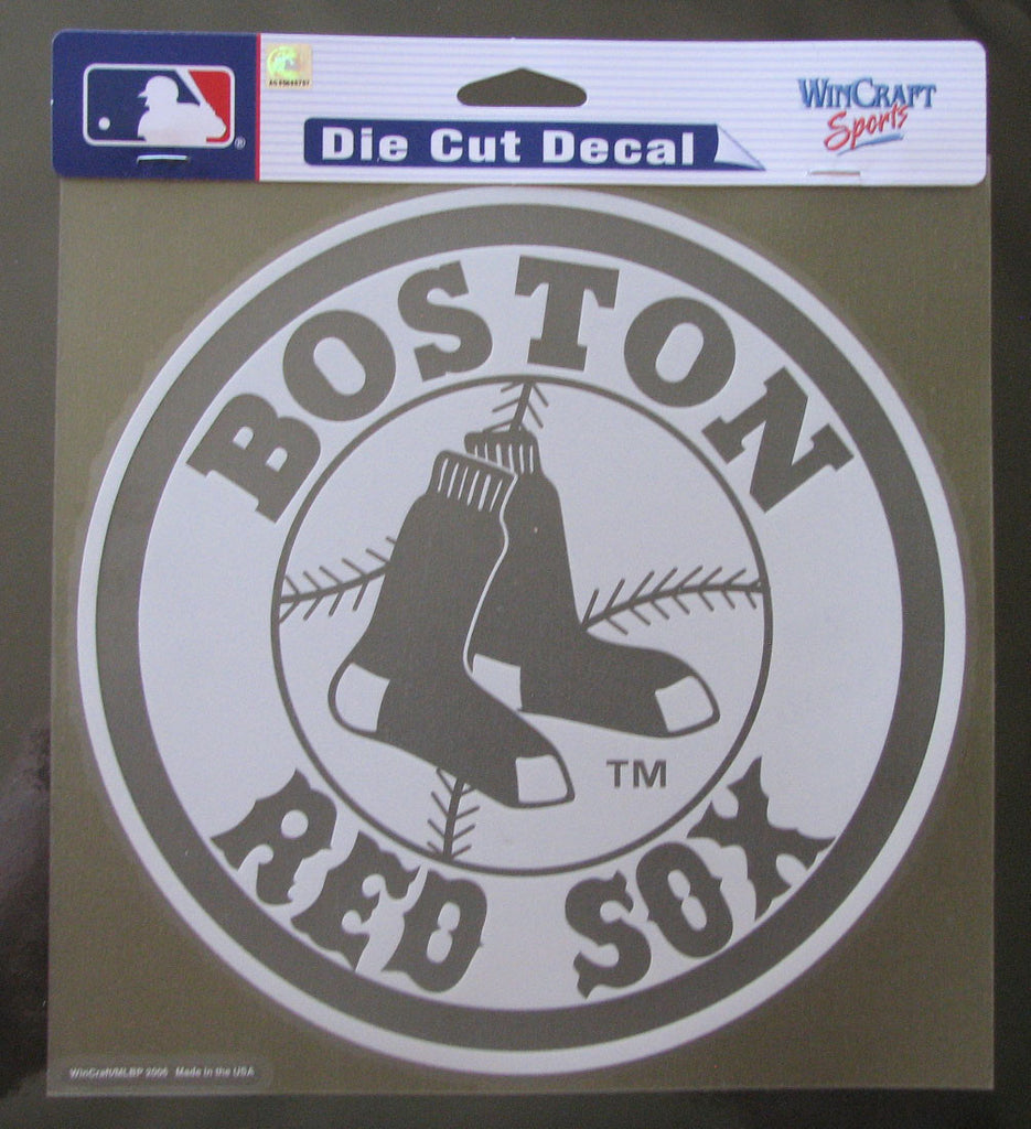 "Boston Red Sox 8""x8"" White Decal"