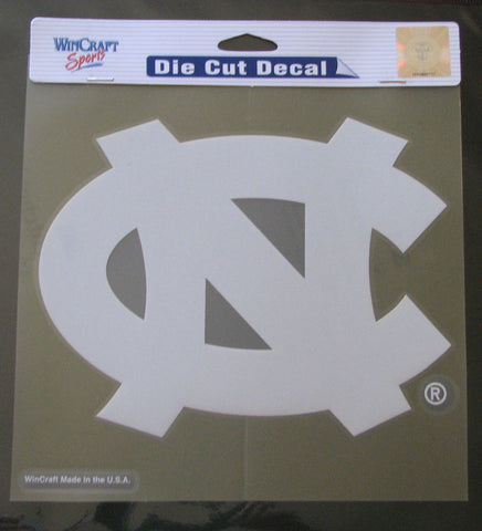 "North Carolina Tar Heels 8""x8"" White Decal"