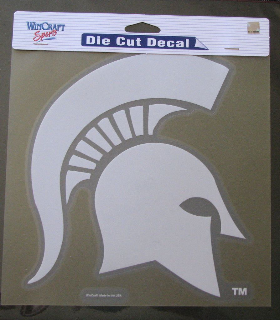 "Michigan State Spartans 8""x8"" White Decal"