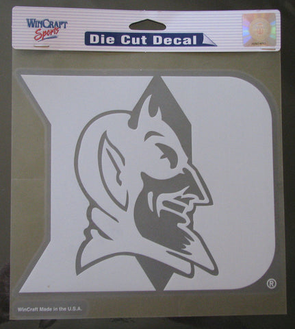 "Duke Blue Devils 8""x8"" White Decal"