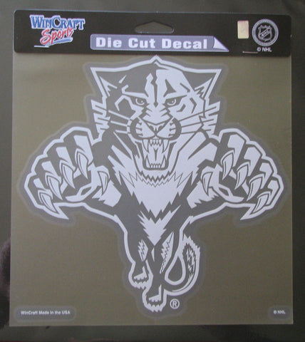 "Florida Panthers 8""x8"" White Decal"