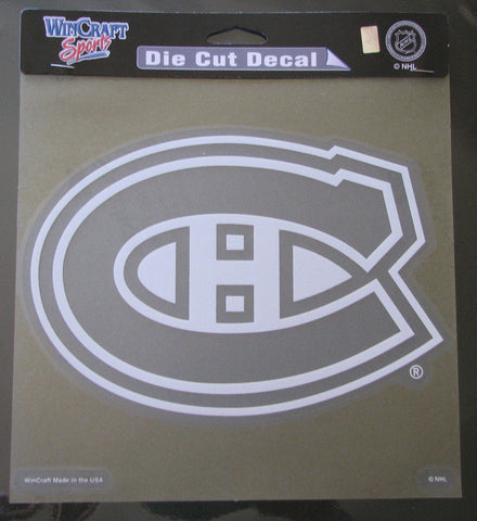 "Montreal Canadiens 8""x8"" White Decal"
