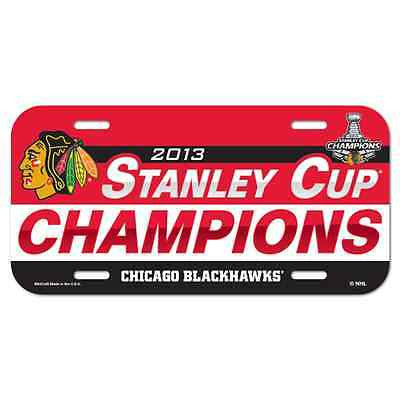 Chicago Blackhawks 2013 Stanley Cup Champions License Plate