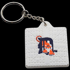 Detroit Tigers Base Style Keychain