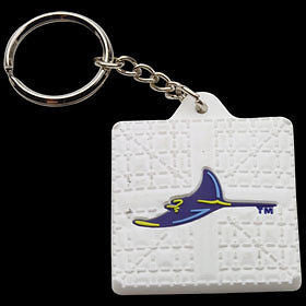 Tampa Bay Devil Rays Base Style Keychain