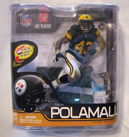 Troy Polamalu Pittsburgh Steelers Retro Uniform McFarlane Series 29 Variant