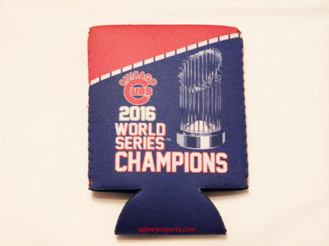 Chicago Cubs World Series Champions Can Holder - Red & Blue with Trophy