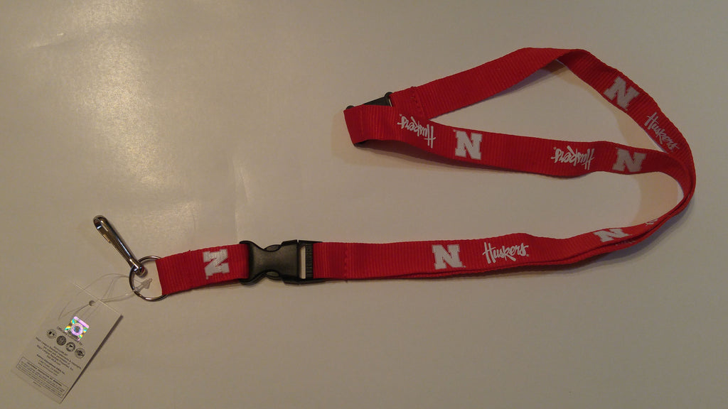 "Nebraska Cornhuskers 23"" Single Sided Lanyard"